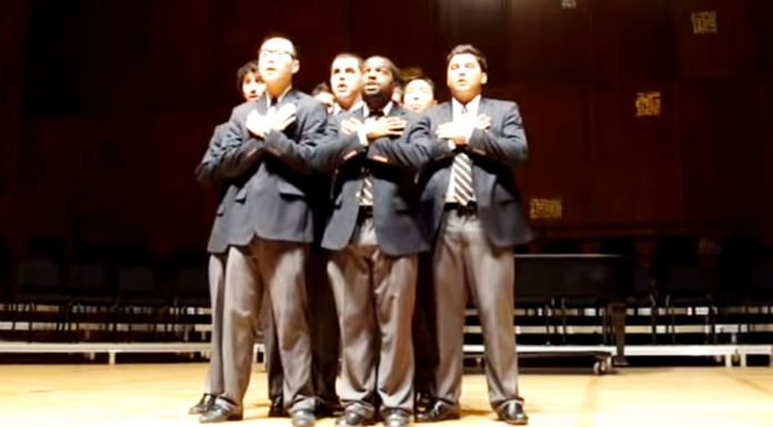 boys performing acapella