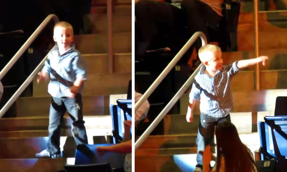 little boy steals the show