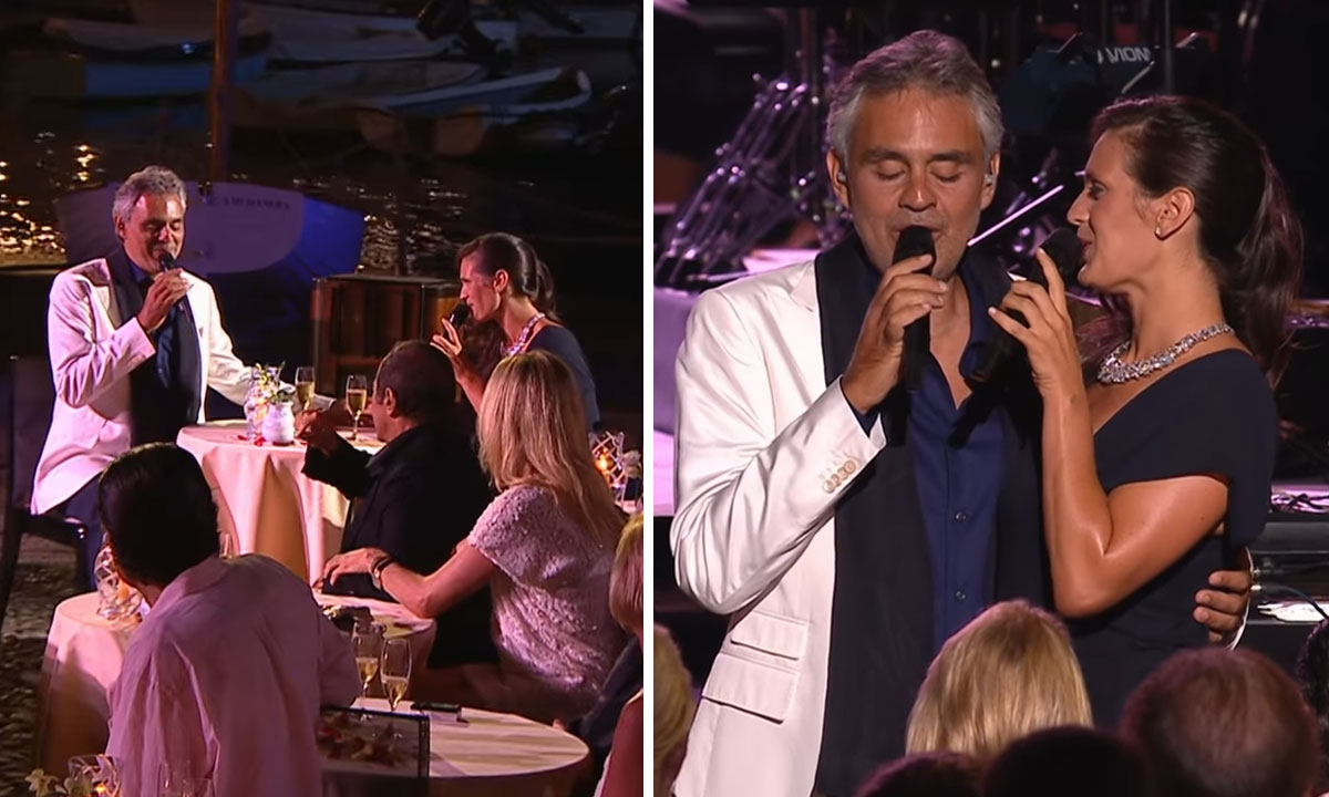 andrea bocelli performs with wife