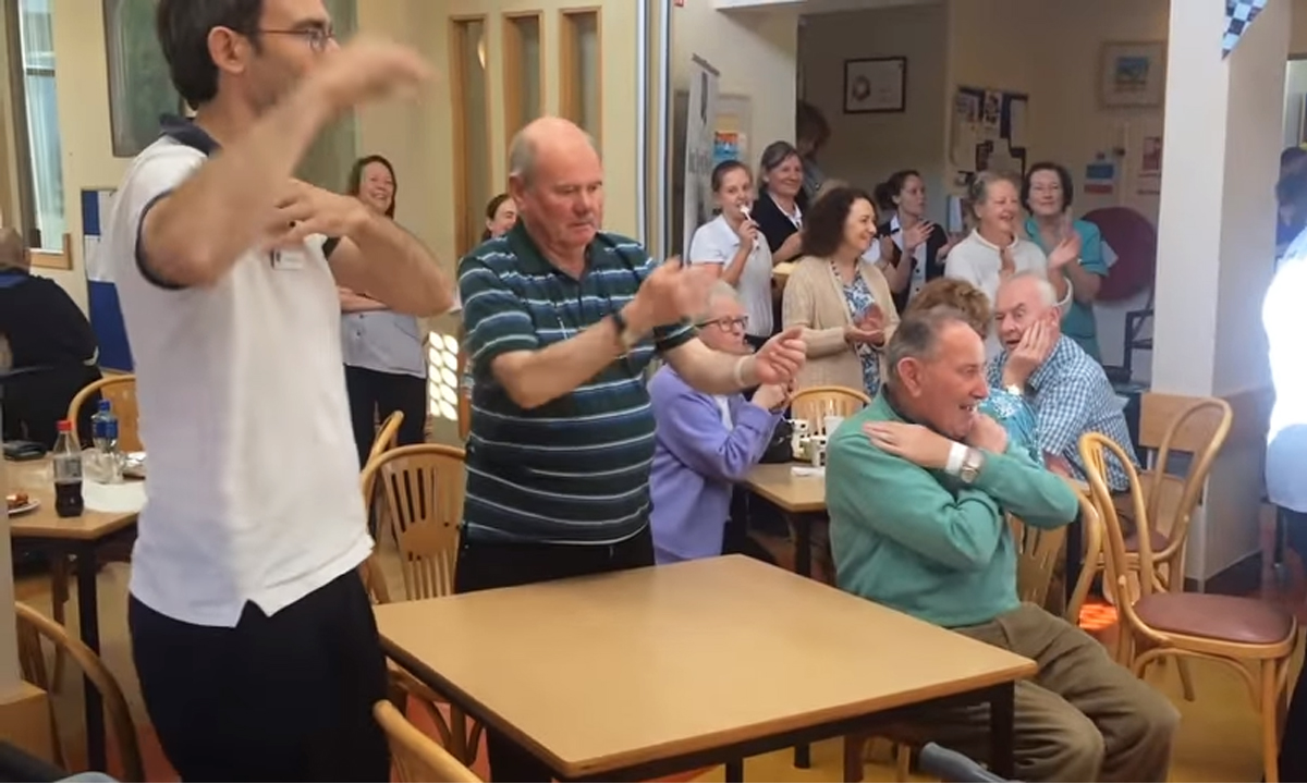 hospice flash mob