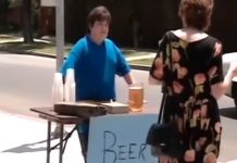 kid sells beer