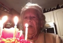 grandma sings happy birthday