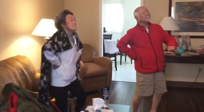 quarantined grandparents dancing