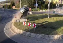 roundabout collision