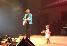 baby crashes dads concert
