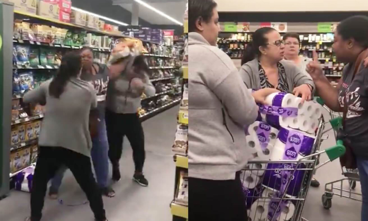 toilet paper fight woolies