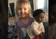 toddler-response-on-black-doll