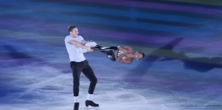 couple delivers ice skating