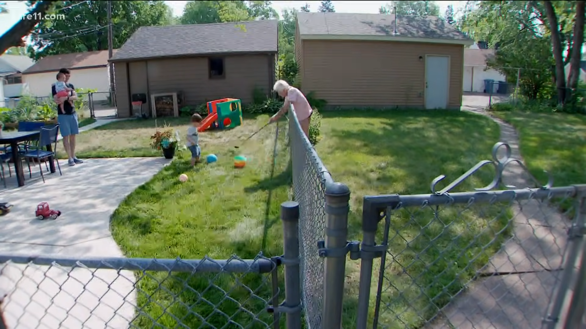 toddler and neighbor friendship
