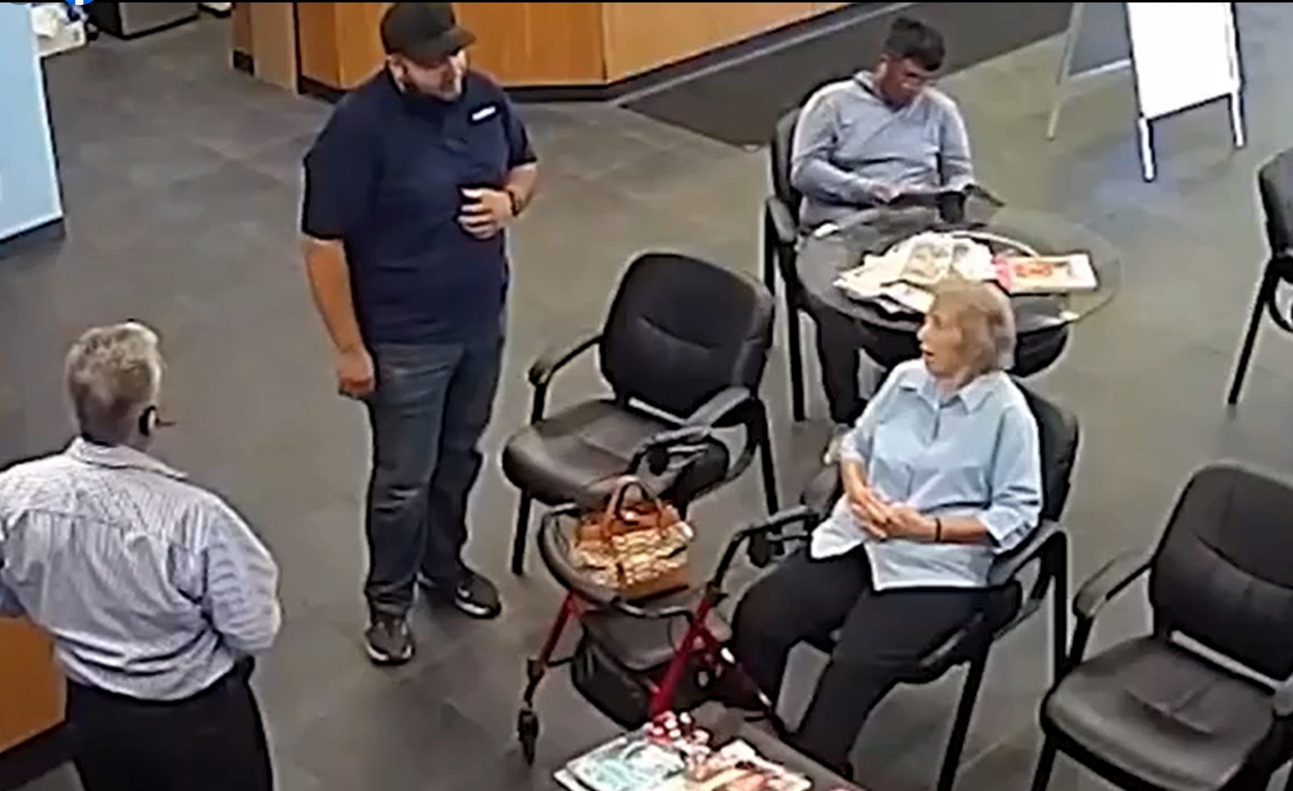 breaking the news to the elderly woman